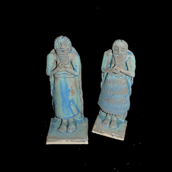 Figure Sumarian King Ceramics