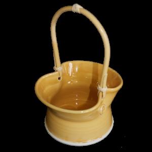 cane handled basket ceramics