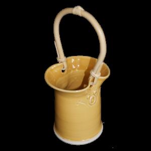 cane handled posy pot ceramics