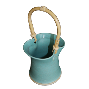 cane handled posy pot ceramics