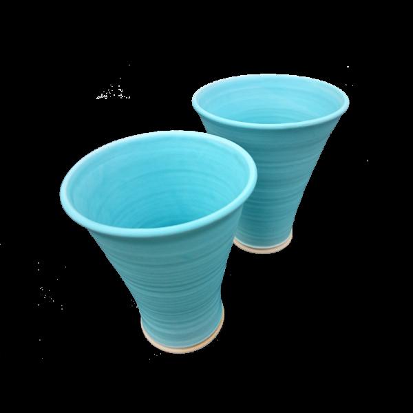 Turquoise Flower Vase Ceramics