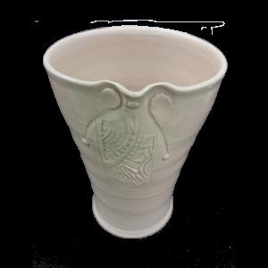 Vase-with-impressed-panel-relief-transparent-15cm Ceramics
